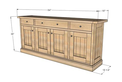wood work sideboard cabinet plans  plans