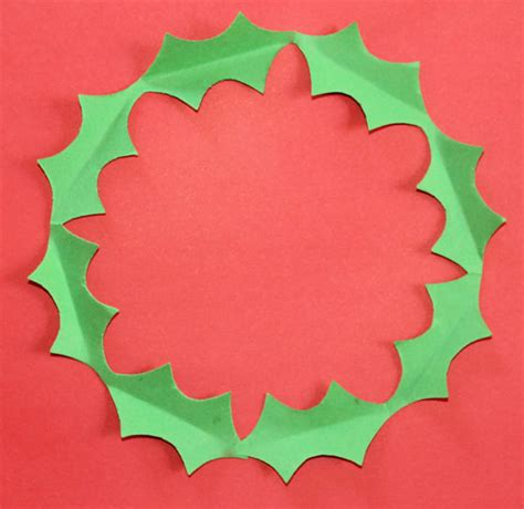 printable paper holly wreath craft activities for the festive holiday season holiday