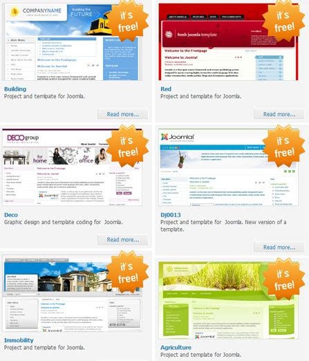 top 5 joomla templates for 28 images free blue sea