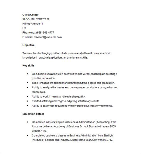 Marketing Analyst Resume by Marketing Analyst Resume Template 16 Free Sles