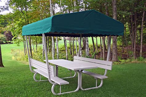 Picnic Table Canopy by Deluxe Canopy Picnic Table Cover To Protect From Sun