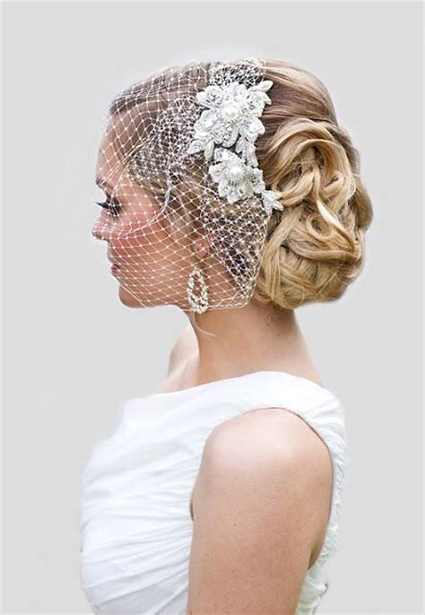 Bridal Hairstyles With Birdcage Veil by 36 Beautiful Hairstyles To Rock With Veils Weddingomania