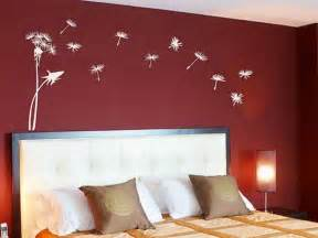Wall Decorating Ideas For Bedrooms Red Bedroom Wall Painting Design Ideas Wall Mural