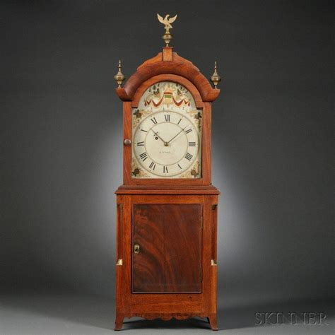 david wood shelf clock newburyport massachusetts
