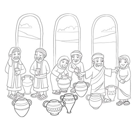coloring pages jesus water into wine 1000 images about jesue turns water into wine on