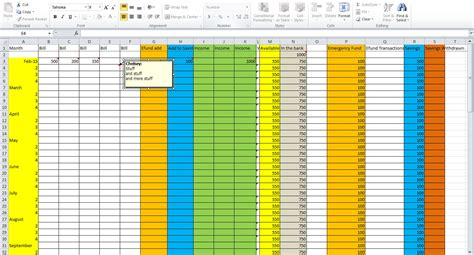Creating A Spreadsheet In Excel by How To Create A Budget Spreadsheet In Excel Buff