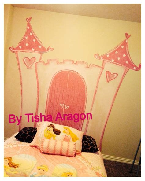 princess castle headboard painted princess castle for a headboard murals by tisha