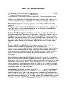 Sales Consultant Contract Template by Freelance Contract Template Free Microsoft Word Templates