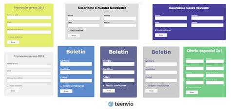 imagenes html para web formularios de suscripci 243 n para email marketing