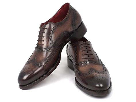 Handmade Goodyear Welted Shoes - paul parkman wingtip oxfords goodyear welted brown