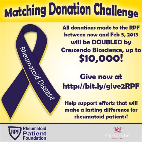 Donation Match Letter Give Now Your Dollars Rheumatoid Patient Foundation