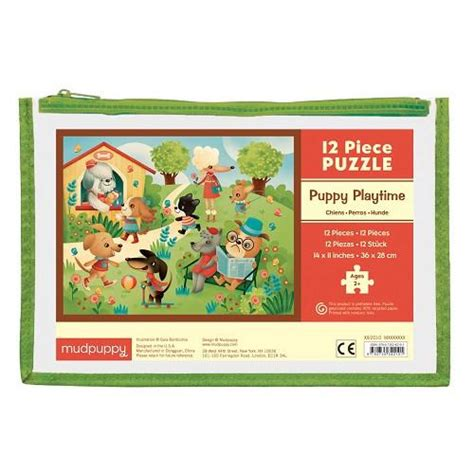 free puppy playtime mudpuppy pouch puzzle puppy playtime the animal kingdom