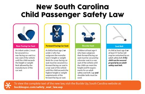 child booster seat laws va south carolina department of safety