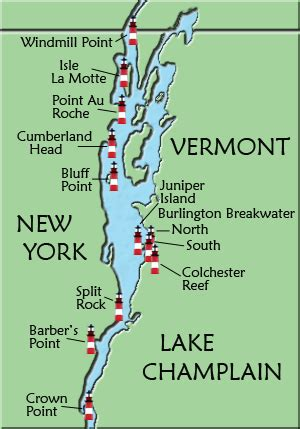 ny boat show map lake chlain lighthouse map