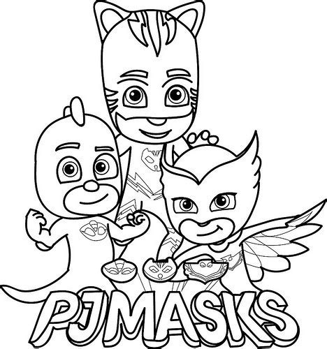 pj masks coloring pages black and white dibujos de pj masks im 225 genes de h 233 roes en pijamas para