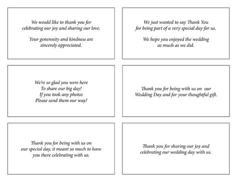 templates for thank you cards weddings best 25 wedding thank you wording ideas on