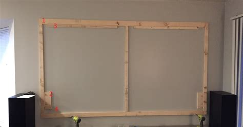 diy projection screen frame andrew s tech page diy wall mount projector projection screen