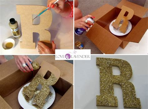 Letter Diy How To Diy Glitter Letters For Your Wedding