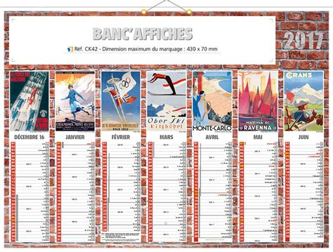 Calendrier Personnalisable Calendrier Publicitaire Personnalis 233 Affiches Pub