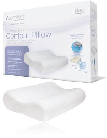 Serta Memory Foam Gel Pillow by Serta Icomfort Contour Gel Memory Foam Pillow Craig S Beds Nyc