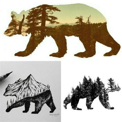 bear silhouette tattoo 1000 ideas about tattoos on drawing
