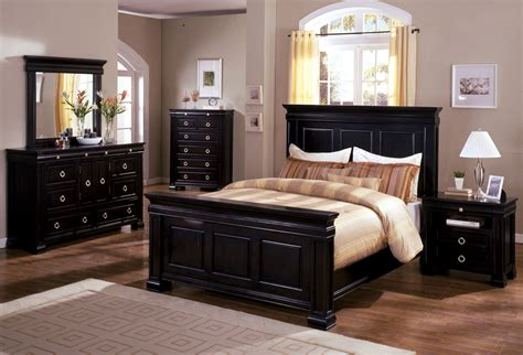 bedroom set antique cambridge ii espresso oak finish queen