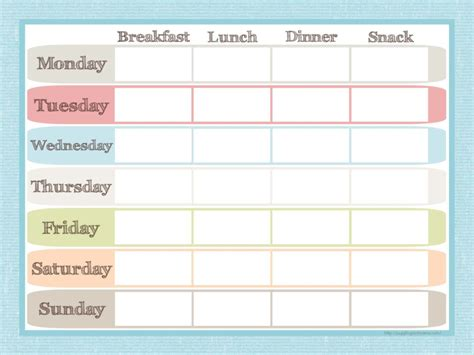 breakfast lunch and dinner menu template menu planner and grocery list printable set juggling act