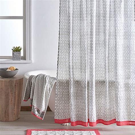 dkny shower curtains dkny gridlock 72 inch x 72 inch shower curtain bed bath
