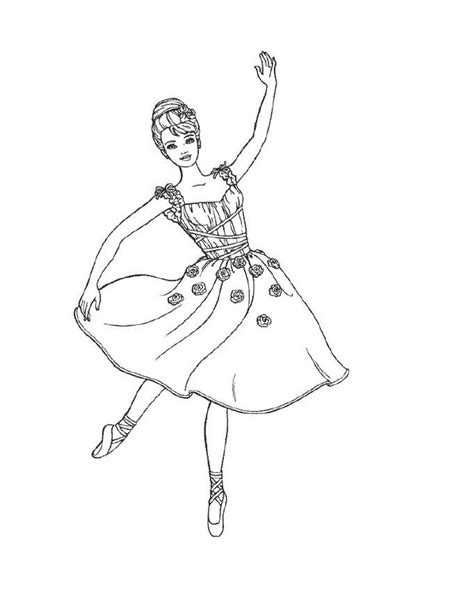 Coloring Book Ballerina Pages | free printable ballet coloring pages for kids
