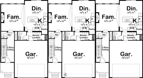 Three Family House Plans Cost Efficient Choices Integrated Multi Family House Plans