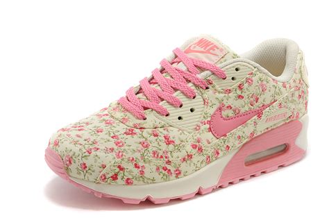 Nike Airmax Flower Pink nike air max 90 s flowers pink shoes