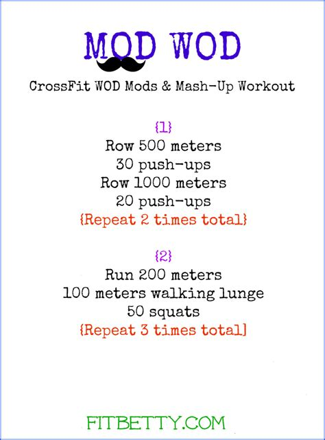 mod wod workout the fit cookie