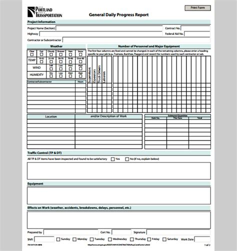 construction daily progress report template doc 600636 doc16561281 construction progress report