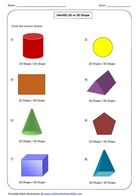 Solid Shapes Worksheets by Image Gallery Solid Shapes