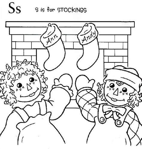 raggedy ann and andy coloring page red work pinterest