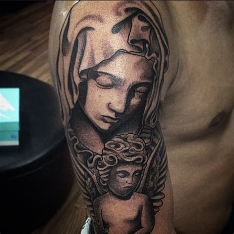 virgin mary half sleeve tattoo designs 55 spiritual tattoos