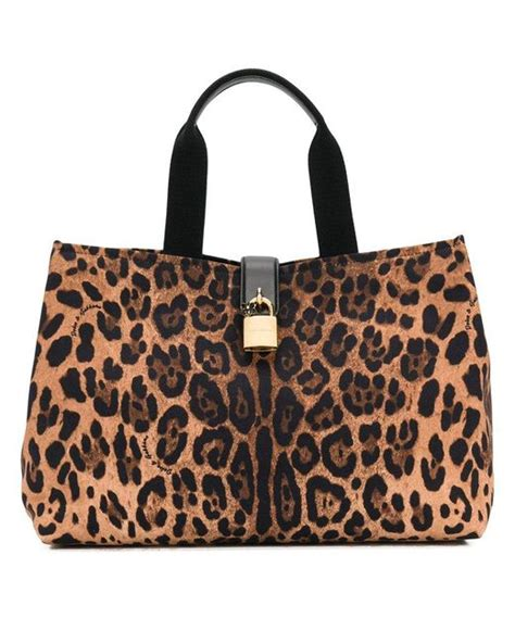Dg Dolce And Gabbana Ocelot Print Tote by Dolce Gabbana Leopard Print Tote Bag In Brown Lyst