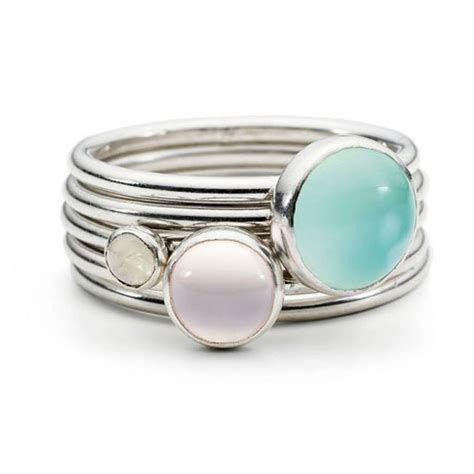 bonbon sterling silver stacking rings by alison