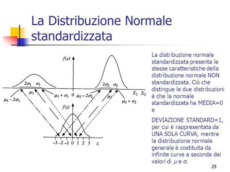 tavole normale standardizzata la distribuzione normale ppt scaricare