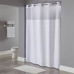 Shower Curtains Hookless Hookless Hbh20mpt01sl White Repet One Planet Alexandria Shower Curtain With Chrome Raised Flex