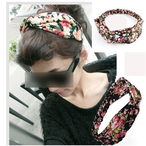 Bando Turban Bandana Headband 2in1 Twist 1 cotton turban twist knot wrap headband twisted knotted hair band random in hair