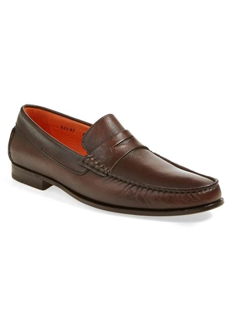 santoni loafers sale santoni santoni turner leather loafer