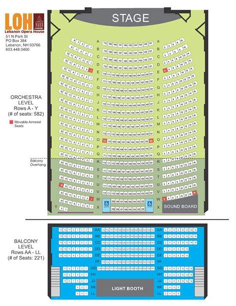 lebanon opera house lebanon opera house seating chart brokeasshome com