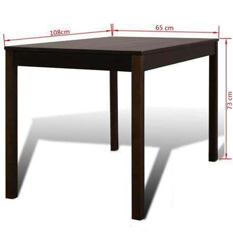 Table A Manger Avec Chaises by Acheter Table 224 Manger Avec 4 Chaises En Bois Brun Pas
