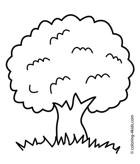 Coloring Page Tree by 26 Tree Coloring Page To Print Print Color Craft