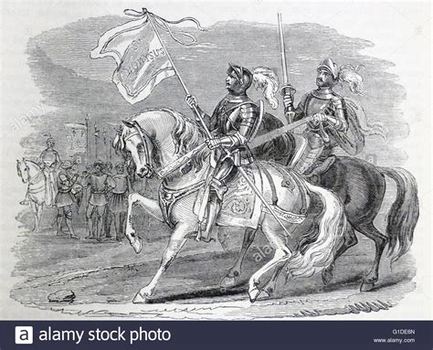 engraving battle engraving depicting the oriflamme the battle standard of