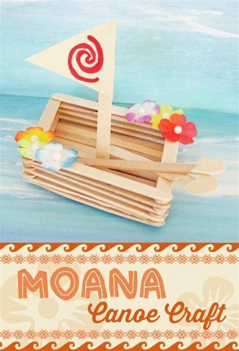 moana boat popsicle sticks moana canoe craft catch my party