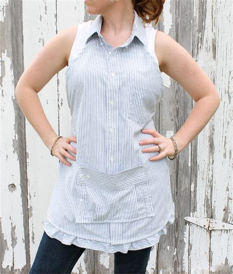 pattern for apron from men s shirt how to make men s dress shirt apron sew handimania