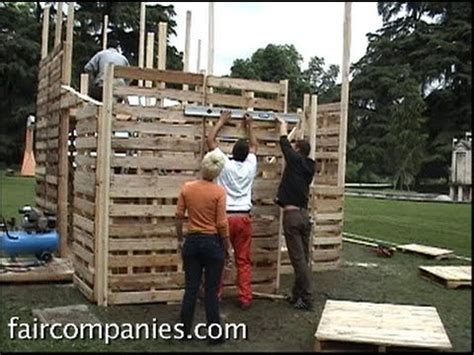 recycled pallets and 2 ikea lacks made an awesome rustic diy recycled pallet house with ikea style assembly