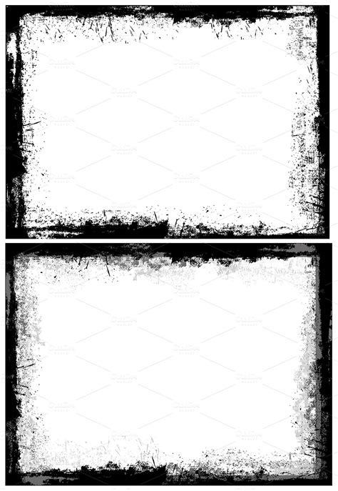 Grunge Dirty Frames Borders ~ Illustrations on Creative Market